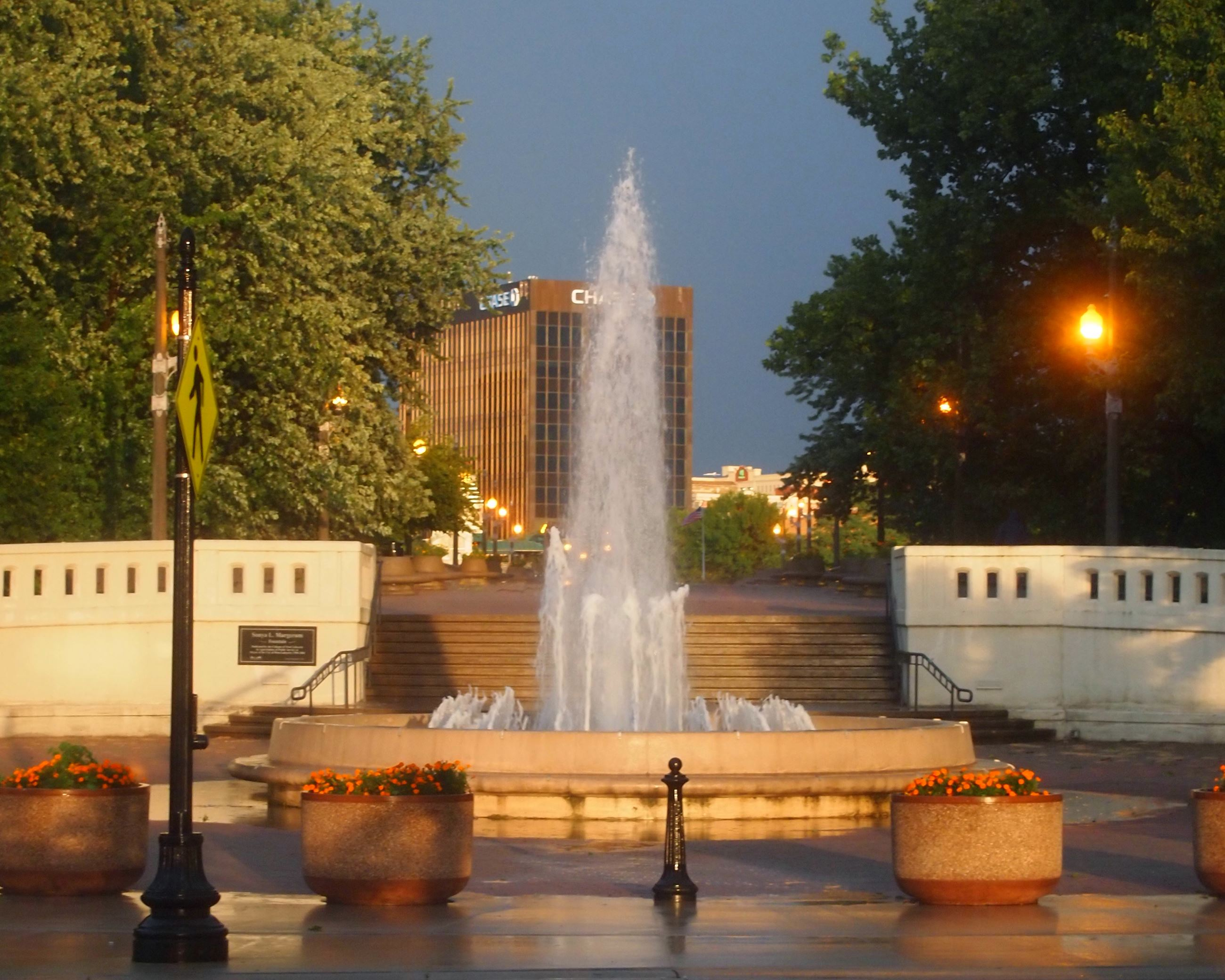 West Lafayette Fountain and Bridge