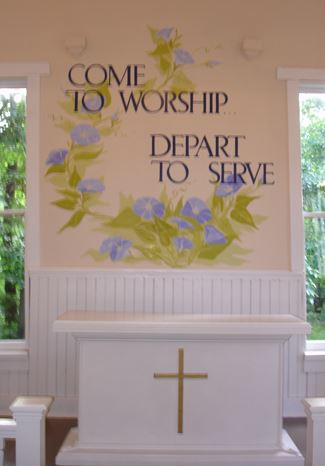 Words Come to Worship, Depart to Serve Decorate th