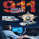 911 Response Vehicles, Number Written in Flames, a