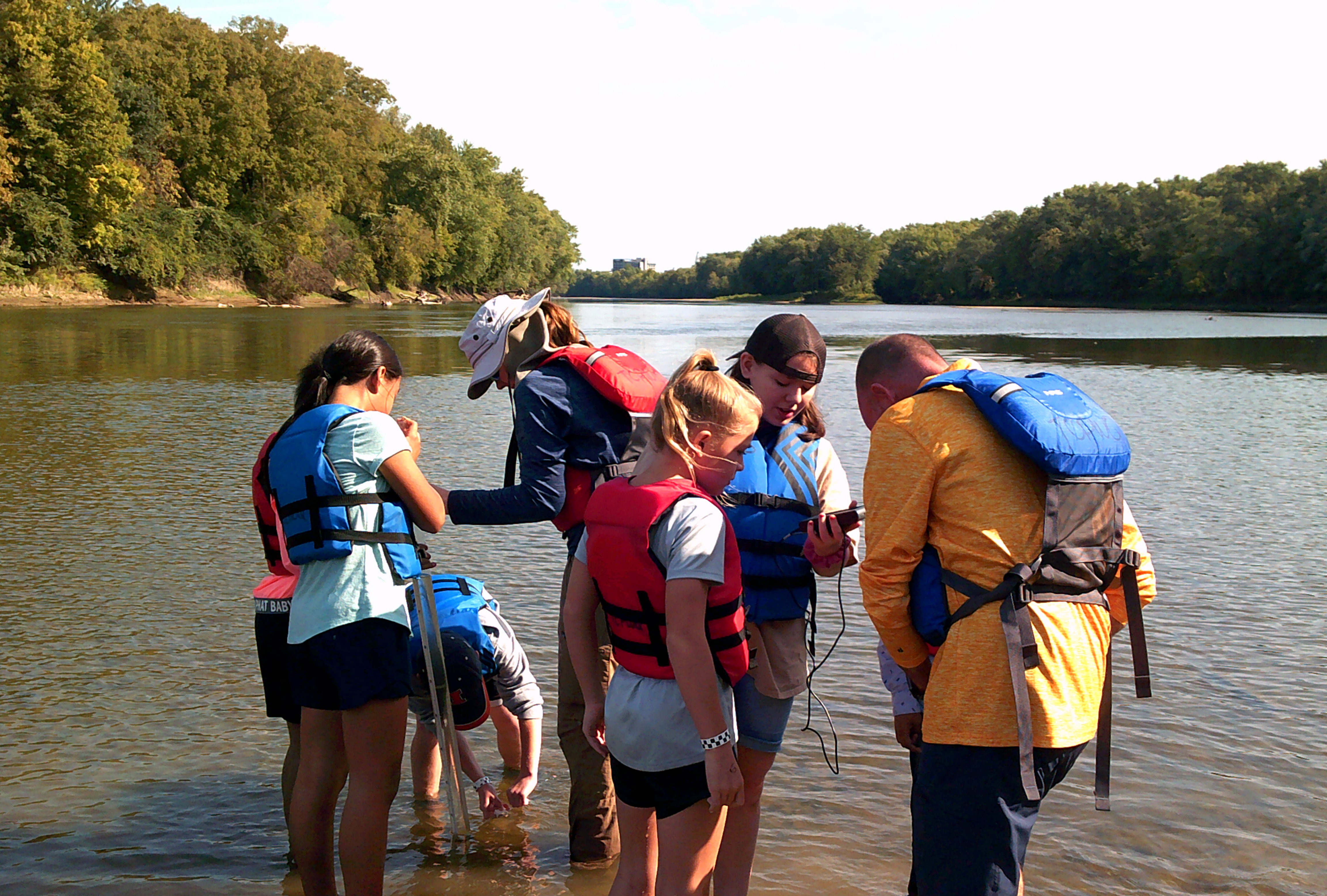 Students explore water quality parameters