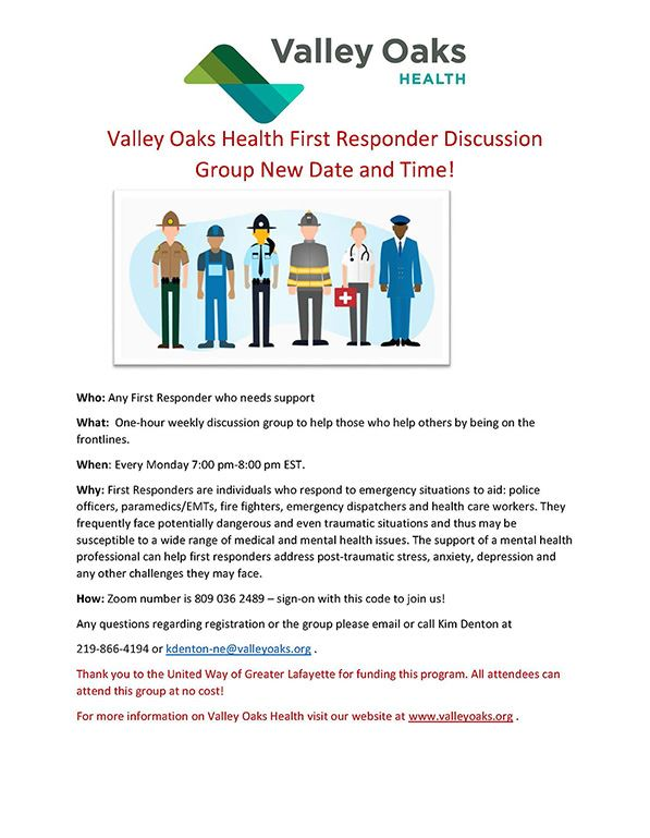 Valley Oaks Health First Responder Support Group